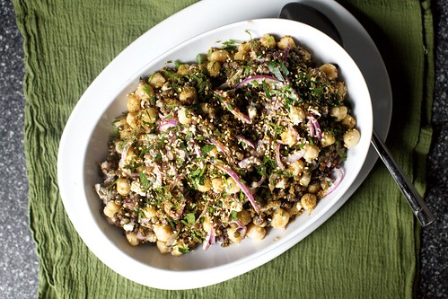 lentil and chickpea salad
