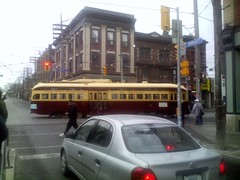 PCC streetcar at Queen West and Bathurst (4)