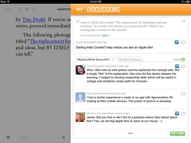 SubText for iPad Discussion Example