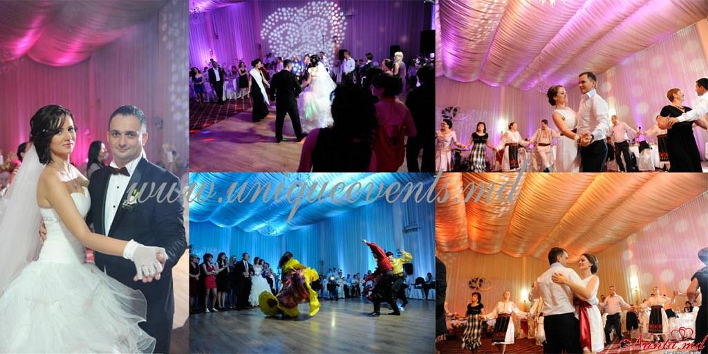 Unique Events: decorațiuni pentru nuntă > Decorul nunții cu lumini de la Unique Events