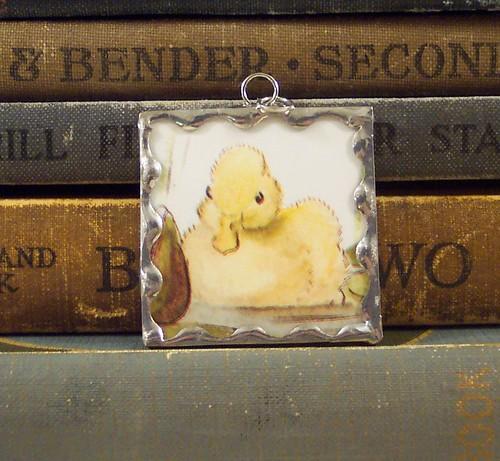 Tasha Tudor Duck Pendant