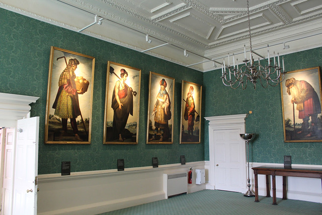 Zurbaran Paintings hanging in the Long Dining Room
