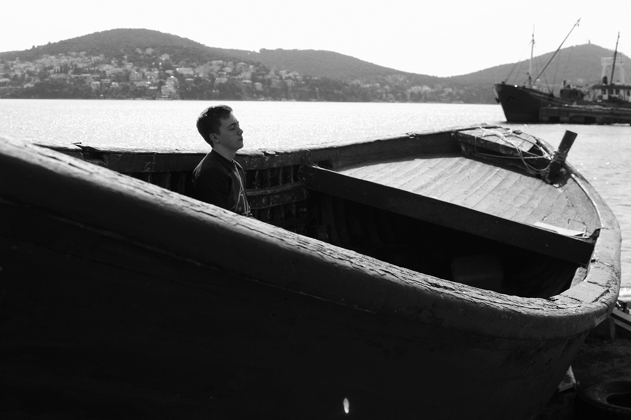 Ruskin in the fishing harbour at Heybeliada