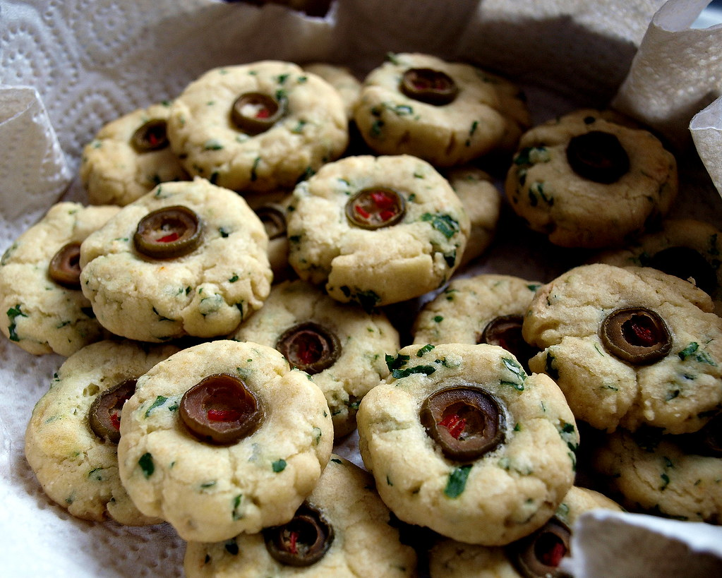 Parsley Olive Cookies