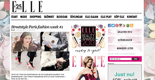 My photos featured on ELLE.se from Paris fashion week 2013