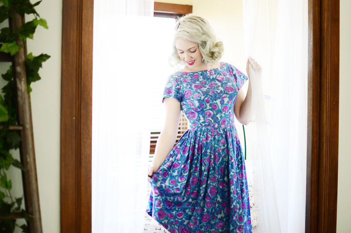 vintage blue dress kitty e