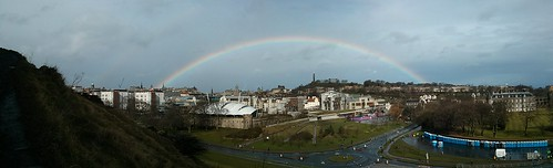 Morning rainbow over Edinburgh
