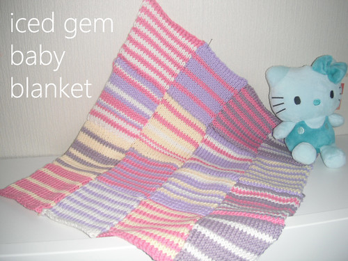 iced gem baby blanket