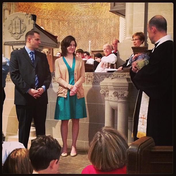 Baptizing baby L. #latergram