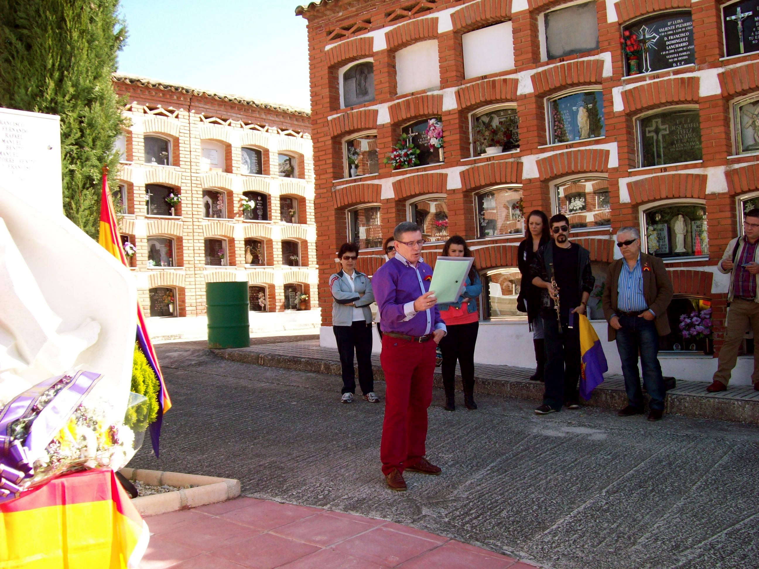 Homenaje a las víctimas del franquismo en Porcuna