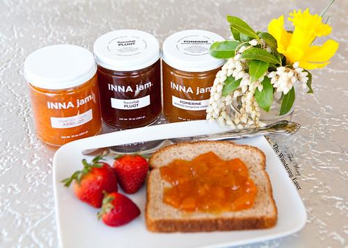 INNA Jam: Royal Blenheim Apricot, Flavorfall Pluot, Pomerine Jams
