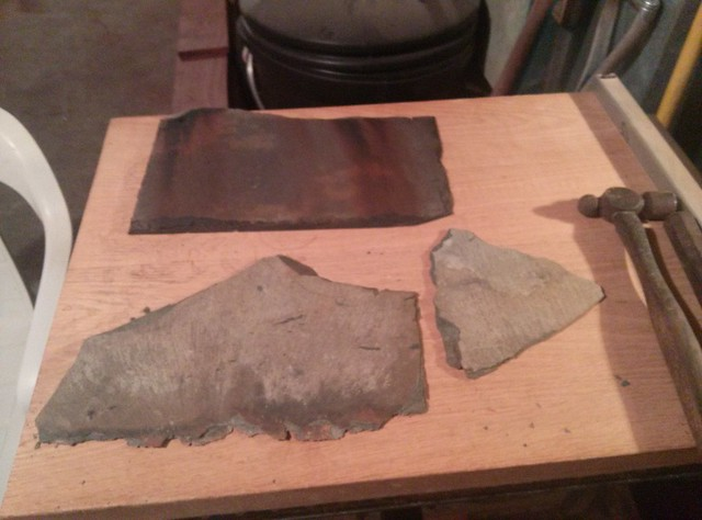 A little Slate roofing that fell off this Winter...