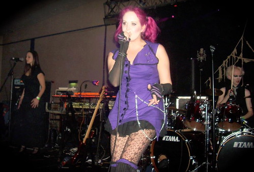 Anikó on backing vocals with Bad Pollyanna, Whitby Goth