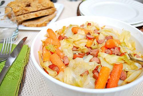 Carrots & Cabbage Kielbasa