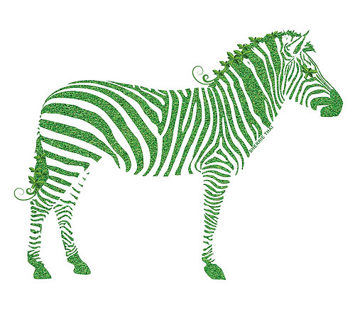 Green Leaf Zebra