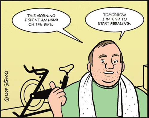 FunnyExceriseBikeCartoon