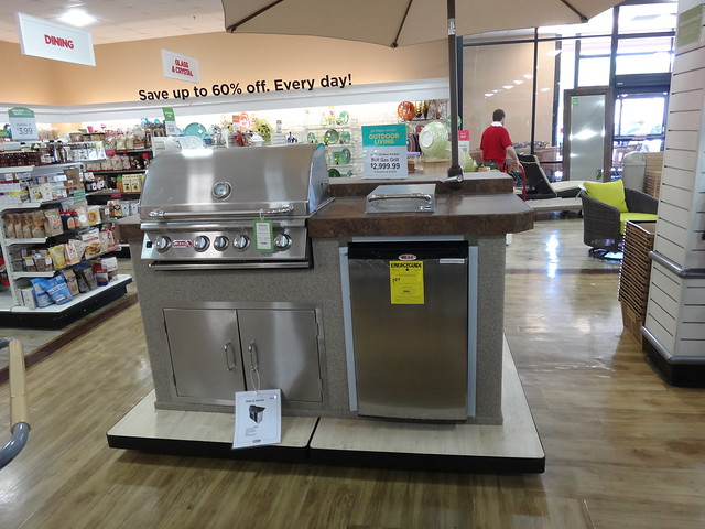 The most awesome outdoor kitchen grill that we saw at for Home goods outdoor kitchen