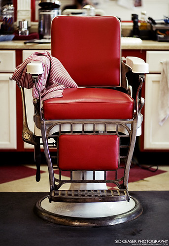 Barber stool, Lucky's Barbershop
