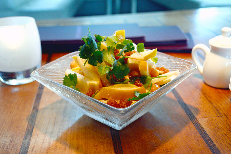 Asian Pear, Apple, Hearts of Palm, tamarind & macadamia Salad