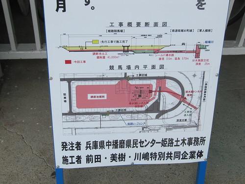姫路競馬場内馬場の工事について
