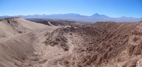 Le désert d'Atacama: el Valle de la Muerte (la Vallée de la Mort)