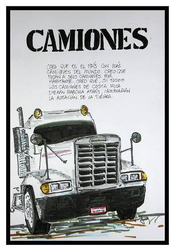 urbansketcher uransketcher skecher truck camión costarica puertolimón