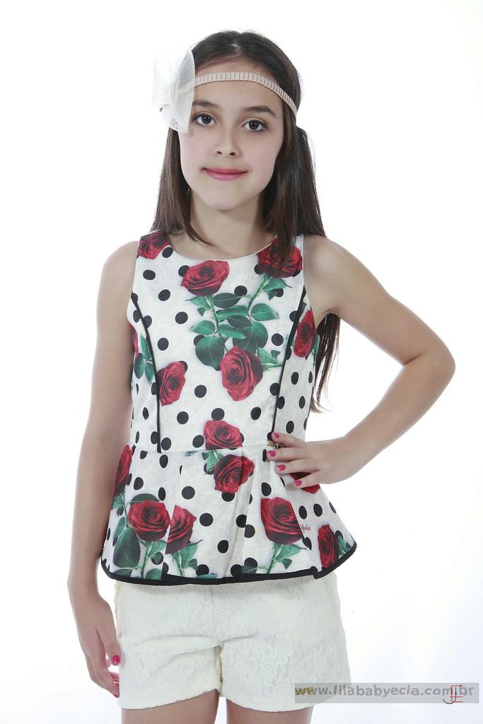7400dd366a conjunto-shorts-e-blusa-diforini-moda-infanto-juvenil-