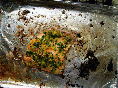 quick trout with parsley and preserved orange