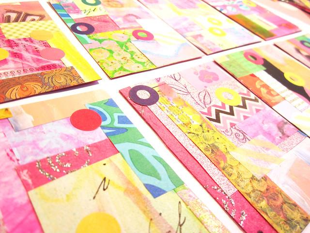 Artist trading card grid