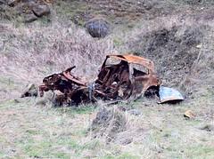 Remnants of a Renault Megane