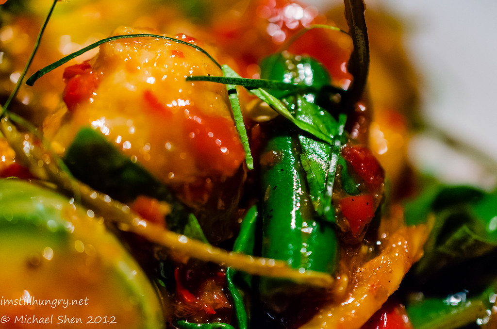 Chat Thai padt char bpla gaia fish dumplings
