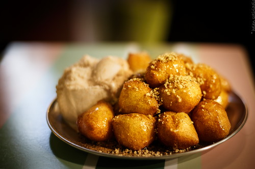 food closeup canon published dof sweet bokeh cinnamon traditional walnuts depthoffield honey icecream nafplion canonef50mmf14usm loukoumades canoneos6d pergamonto ayearofpictures2013