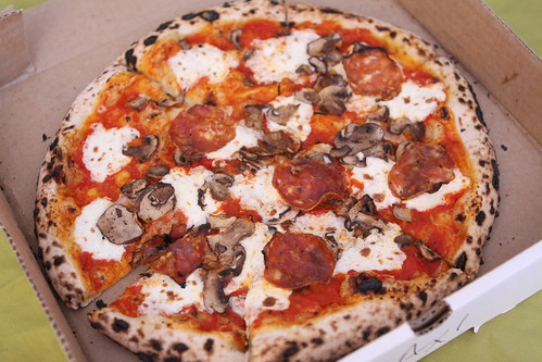 Roberta's Pizza with Pepperoni and Mushroom