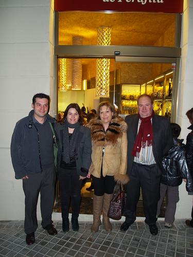 D'esquerra a dreta: Albert i Elisabet Franquesa, Lina Pascal i Salvador Franquesa, actuals responsables de Forn Franquesa.