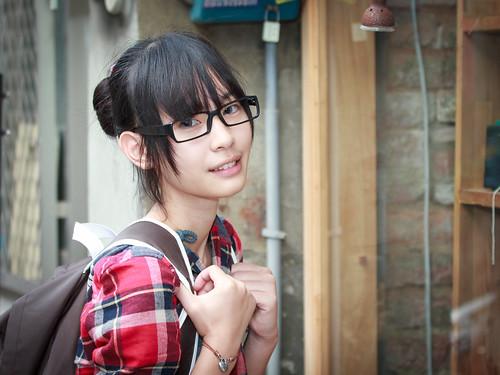 [フリー画像素材] 人物, 女性 - アジア, 眼鏡・メガネ, 台湾人 ID:201302150800