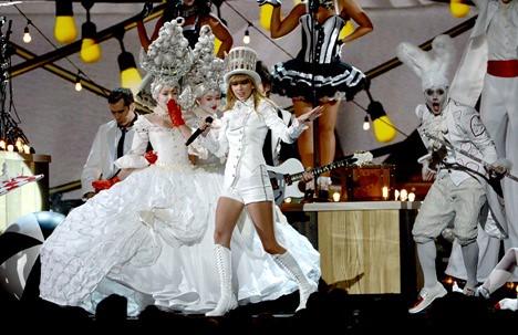 Taylor Swift. Premios Grammy, versión 55, febrero 10 de 2013, Staples Center, Los Angeles, California, Estados Unidos. Foto cortesía Canal TNT.