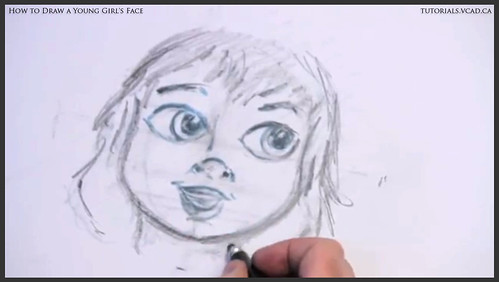 learn how to draw a young girls face 017