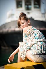 [フリー画像素材] 人物, 女性 - アジア, 女性 - 振り向く ID:201302210800
