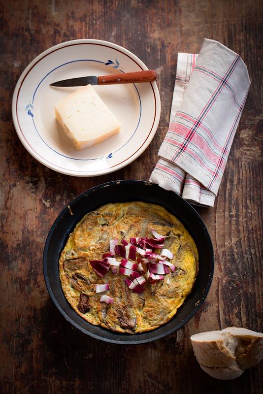 Omelette di rosso tardivo e montarsio