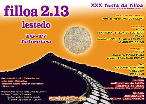Boqueixón 2013 - Festa da filloa de Lestedo - cartel