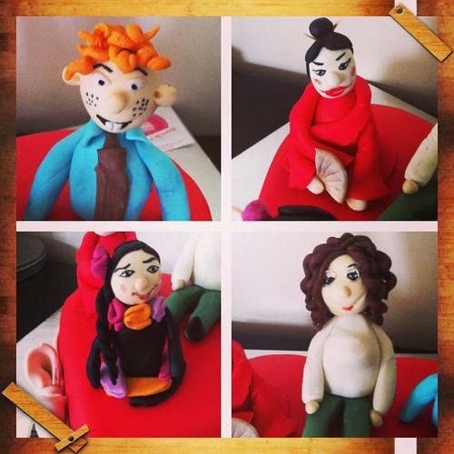 #puppets #birthdaycake #valentinesdaycake #sugarart #sugarpaste #sekerhamurlupastalar by l'atelier de ronitte