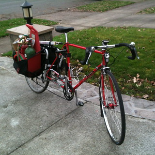 A ridiculously heavily loaded xtracycle