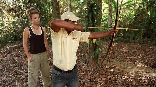 Juila Dimon learning jungle survival in Guyana
