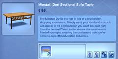 Minstatl Dorf Sectional Sofa Table