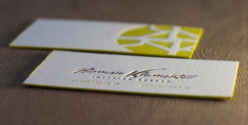 Letterpress on hand moulded paper