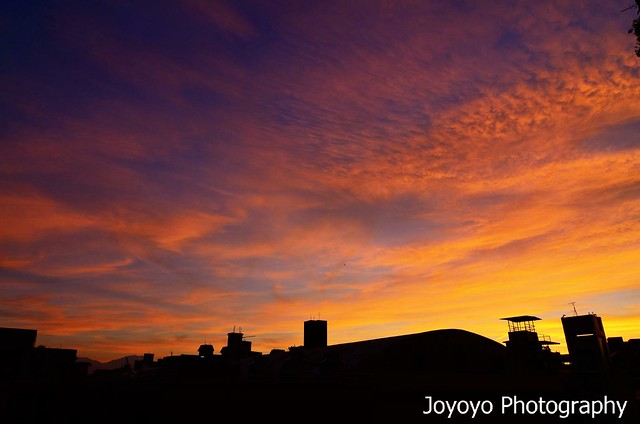 陽台上的火燒雲