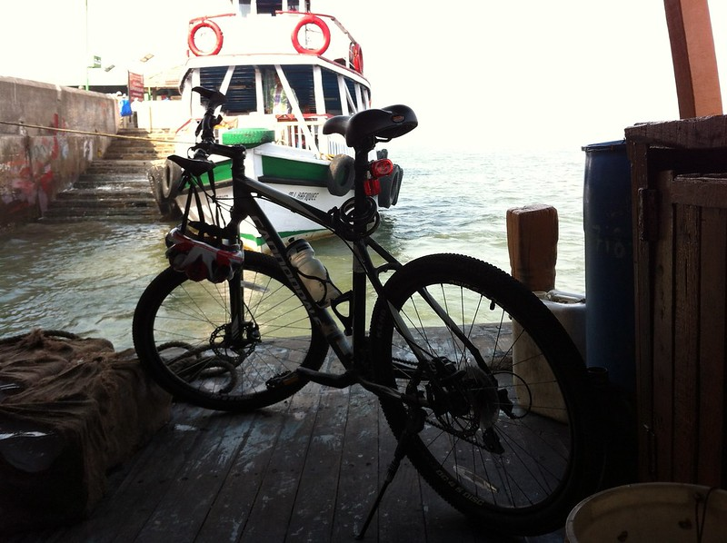 Cycle on ferry to Elephanta
