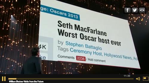Seth MacFarlane is the worst.