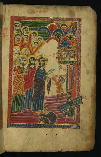 Gospel Book, Raising of Lazarus, Walters Manuscript W.540, fol. 10r by Walters Art Museum Illuminated Manuscripts