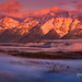 Foggy Sunrise Grand Tetons by Chip Phillips